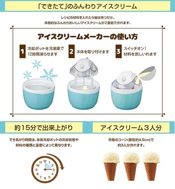 アイスクリームメーカーDIC-16BLを使ったアイスクリームの作り方