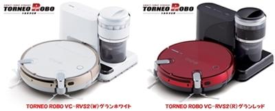 東芝新型トルネオロボVC-RVS2ロボットクリーナーホワイト&レッド.jpg